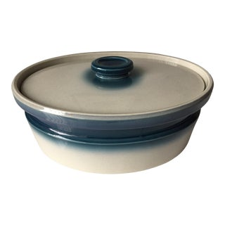 Wedgwood 'Blue Pacific' Lidded Casserole Dish For Sale