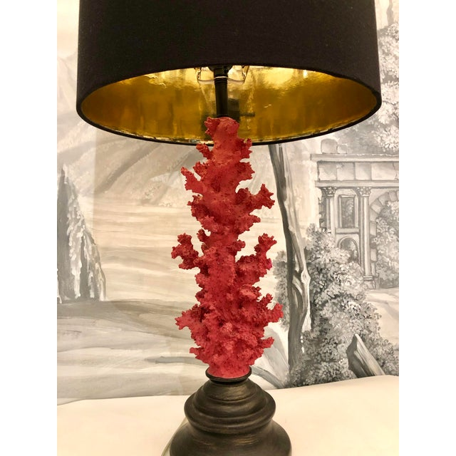 Contemporary Vintage Red Faux Coral Branch Table Lamps - a Pair For Sale - Image 3 of 13