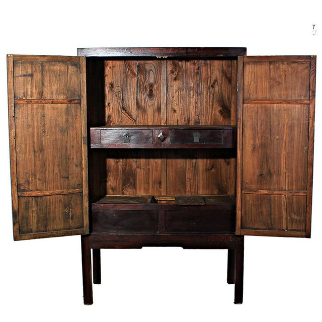 Sarreid Ltd. Antique Ming Dynasty Armoire - Image 2 of 2
