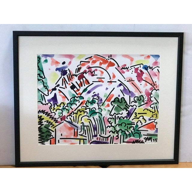 Framed Landscape Watercolor by James McCray #8 For Sale In Los Angeles - Image 6 of 7