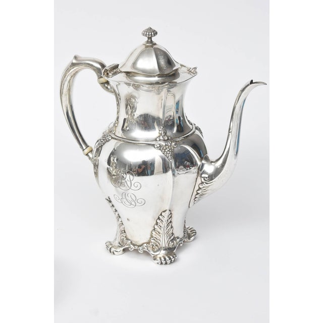 1899 Antique Victorian Tiffany & Co Sterling Tea Coffee Set - 7 Pieces For Sale - Image 4 of 10