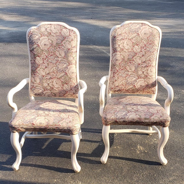 Traditional 1960s Vintage High Back Patio Chairs- A Pair For Sale - Image 3 of 6