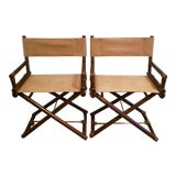 Image of Vintage McGuire Director's Chairs - a Pair For Sale