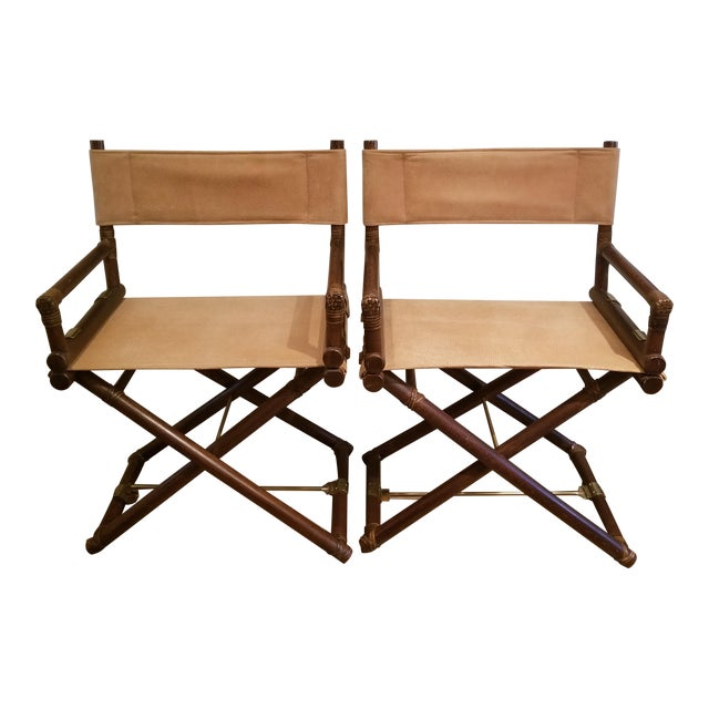 Vintage McGuire Director's Chairs - a Pair For Sale