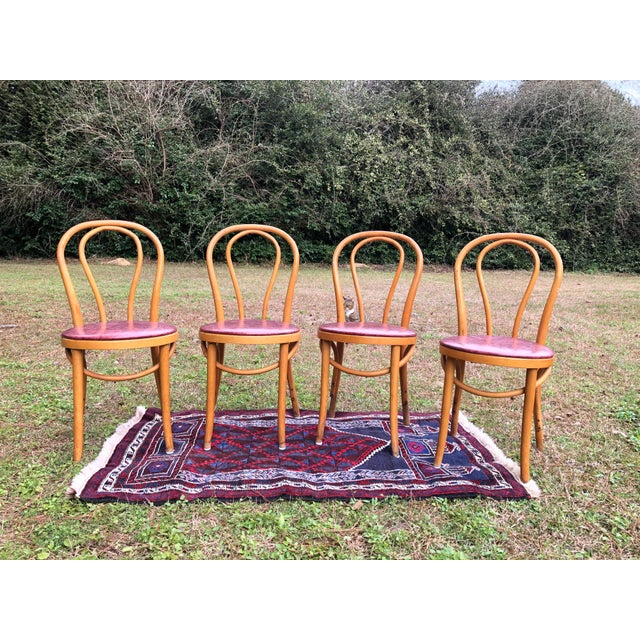 Vintage Mid Century Thonet Style Cafe Chairs- Set of 4 For Sale - Image 10 of 10
