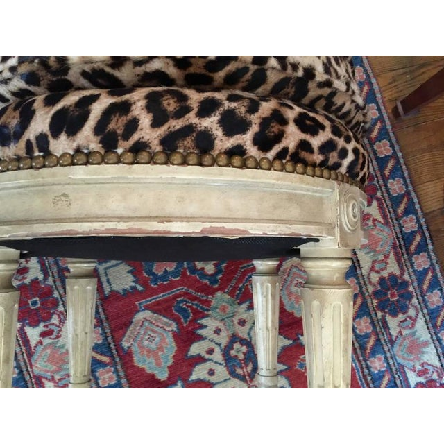 Mid 20th Century Louis XVI Style Stool in the Manner of Maison Jansen, 20th Century For Sale - Image 5 of 7