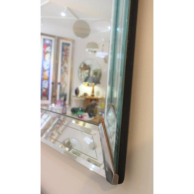 Silver Vintage American Art Deco Mirror For Sale - Image 8 of 12