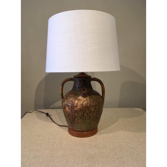 Mid-Century Modern Ceramic Jug Lamp For Sale - Image 10 of 10
