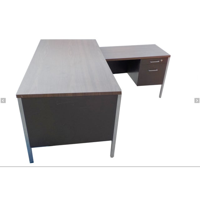 Steelcase Style Mid-Century Desk - Image 4 of 4