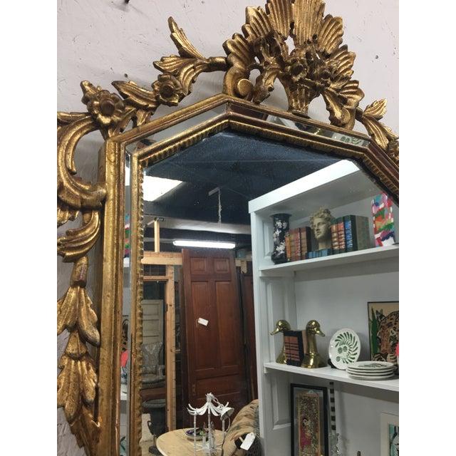Hollywood Regency LaBarge Gilt Mirror For Sale - Image 3 of 6