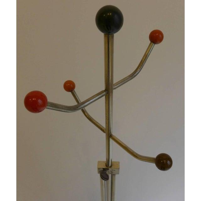 Slender Machine Age Hat Rack or Coat Rack - Image 6 of 10