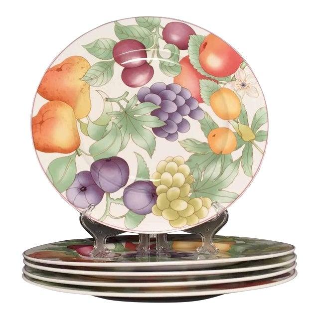 Villeroy & Boch, Gallo Design, Frutteto, Chop/Charger Plates - Set of 5 For Sale