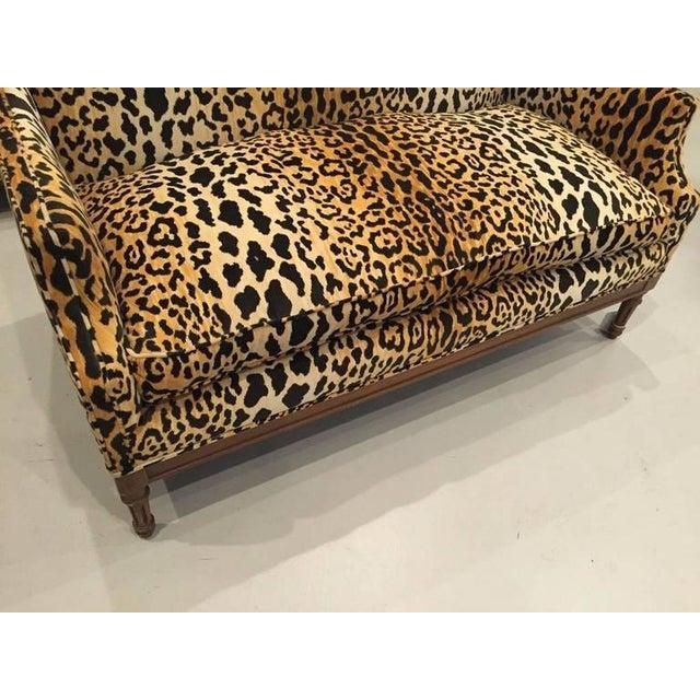 Mid-Century Leopard Print Sofa - Image 2 of 10