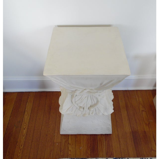 Hollywood Regency Late 20th Century John Dickinson Atrributed Plaster Draped & Roped Table For Sale - Image 3 of 4