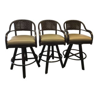 McGuire Bar Stools - Set of 3 For Sale
