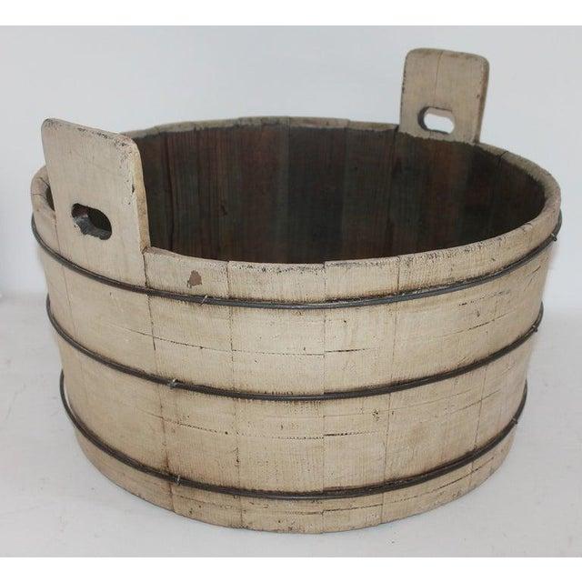 19th Century Original Cream Painted Wash Tub For Sale - Image 4 of 7