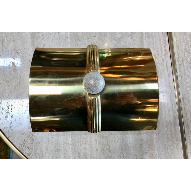 Mid-Century Modern Tommaso Barbi Vintage Brass Box, Italy, 1960s For Sale - Image 3 of 11