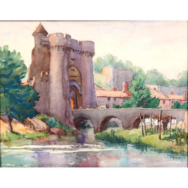 Monory Town Gate in France Painting - Image 2 of 7