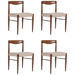 A Set of Four Teak Dining Chairs Designed by h.w. Klein For Sale