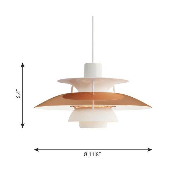 Poul Henningsen PH5 Mini copper pendant for Louis Poulsen. Poul Henningsen introduced his iconic PH 5 pendant light in...