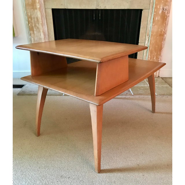 1950s Mid Century Side Table Heywood Wakefield For Sale - Image 5 of 9