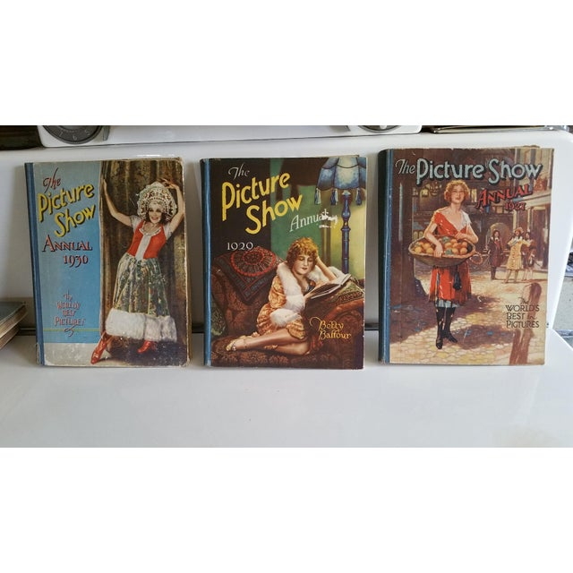 A set of three very rare early Hollywood movie annual books. Each is packed with color and black and white photos of all...