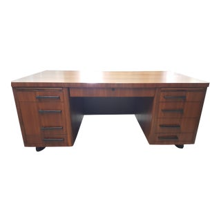 Vintage Art Deco Executive Desk For Sale