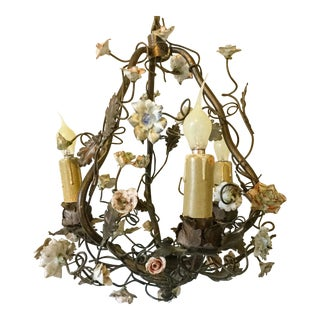 1920s Vintage French Chandelier For Sale