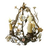 Image of 1920s Vintage Tole French Chandelier For Sale