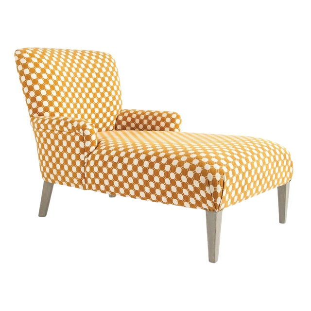 Woven Fabric Chaise Lounge For Sale