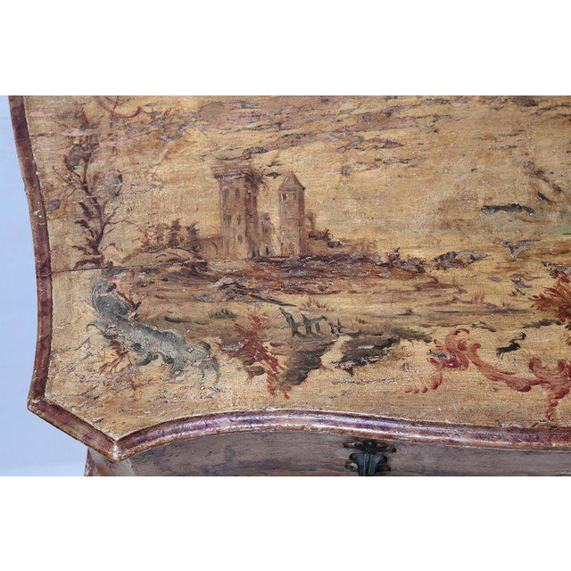 Mid 18th Century Italian Painted Two Drawer Commode For Sale - Image 9 of 13