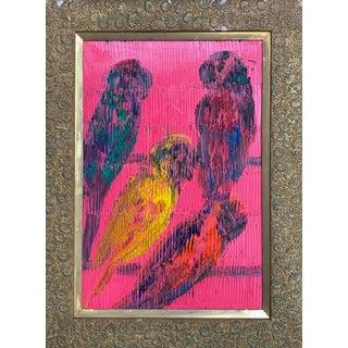 """Lories"" Original Painting by Hunt Slonem For Sale"