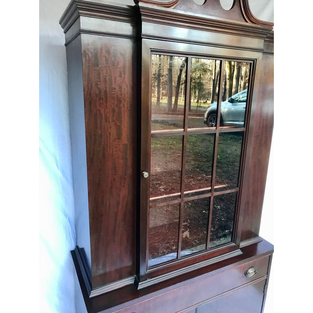 Early 20th Century Antique Mahogany China Cabinet For Sale - Image 5 of 12