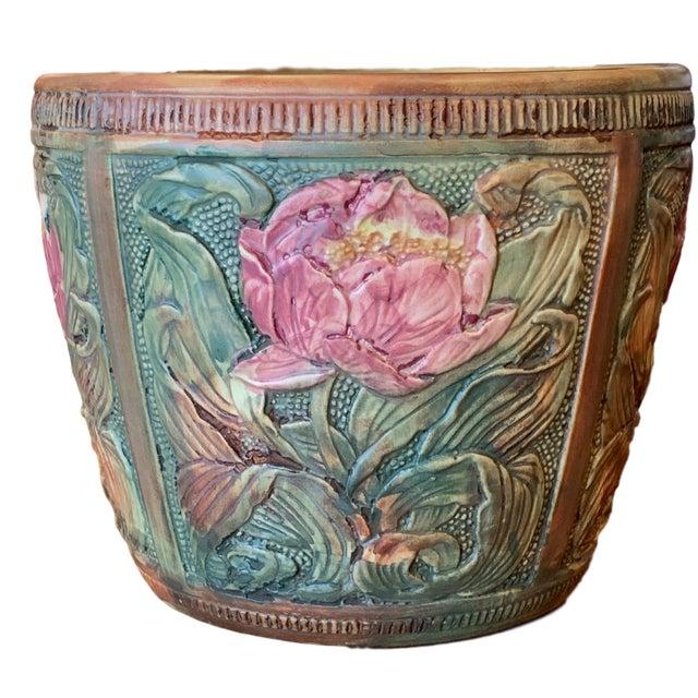 Weller Flemish Ceramic Cachepot For Sale - Image 9 of 9