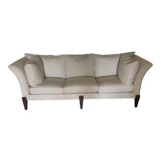Cream Colored Beautiful Sofa - 1830s Vintage English Splayed Arm Sofa For Sale