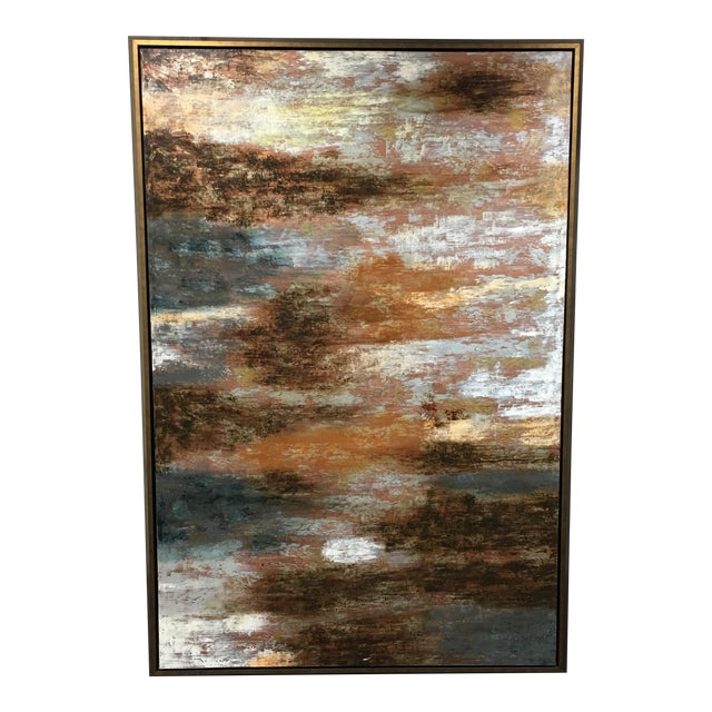 """Horchow Original Oil Painting Titled """"Luminescence"""" in Custom Frame - Image 1 of 11"""