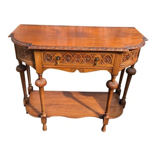 Traditional James Craig Carved Console Table For Sale