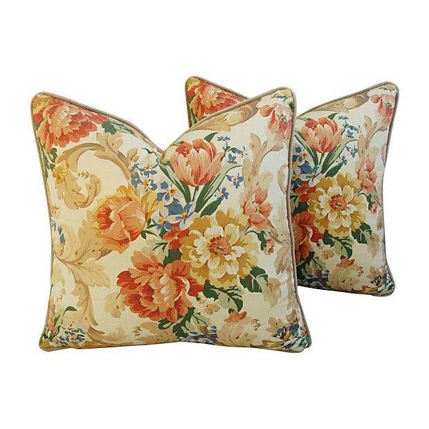Designer Italian Linen & Velvet Pillows - A Pair - Image 7 of 7