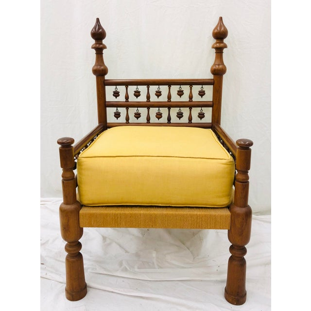 Vintage Indian Arm Chair For Sale - Image 13 of 13