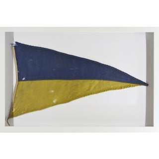 Vintage Navy Signal Flag, Framed in Shadowbox For Sale
