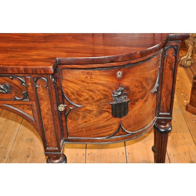 Hollywood Regency English George III Period Sideboard in Gothic Taste by Gillows of London For Sale - Image 3 of 7