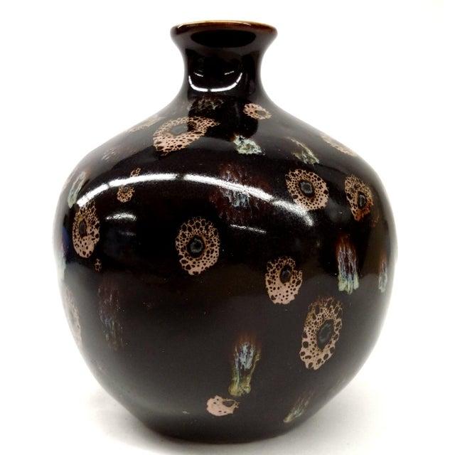 Drip Glaze Black Porcelain Bud Vase - Image 4 of 10