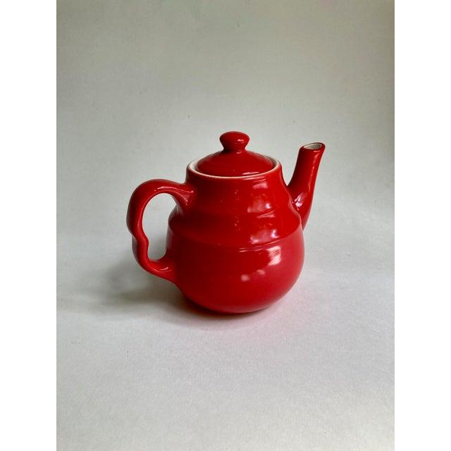 Universal Cambridge Red Ceramic Beehive Tea Pot For Sale - Image 4 of 13