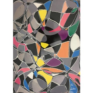 """Abstract Modern """"Vitrales"""" – Signed F, 2020 For Sale"""