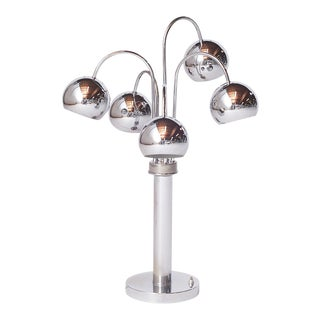 Chrome Table Lamp by Reggiani, Italy For Sale