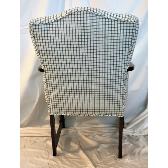 Vintage French Fauteuil Arm Chair - Custom Upholstered - Image 5 of 6