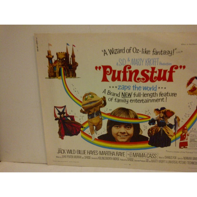 """Contemporary Vintage Movie Poster """"Pufnstuf ... Zaps the World"""" Jack Wild & Billie Hayes - 1970 For Sale - Image 3 of 5"""