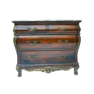 Four Drawer Bombay With Marble Top