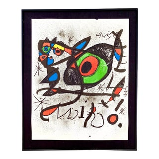 Joan Miro, 1893-1983 Lithograph Mid Century Modern Artwork For Sale