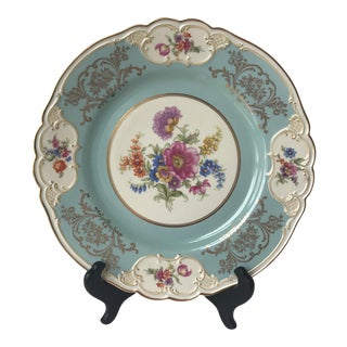 Vintage Tirschenreuth Blue Floral Bavarian Plate